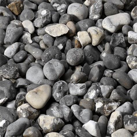 Sten i rabatten