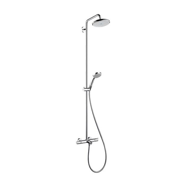 takduschset hansgrohe croma 220 showerpipe med badkarsblandare. Black Bedroom Furniture Sets. Home Design Ideas